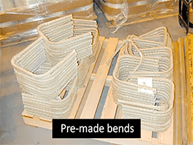 Pre-made bends