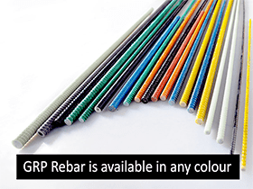 GRP Rebar is available in any colour